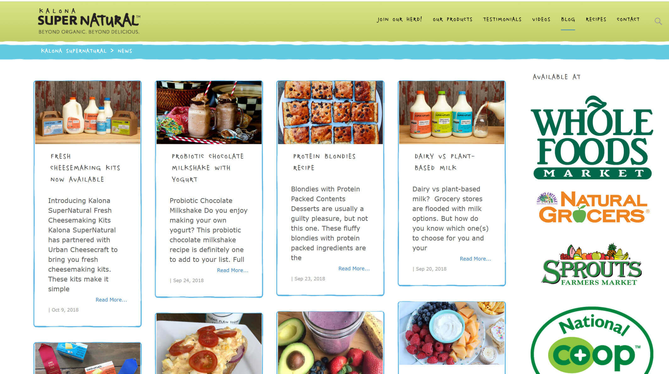 designed by janieart, recipe section of their website branded to their needs