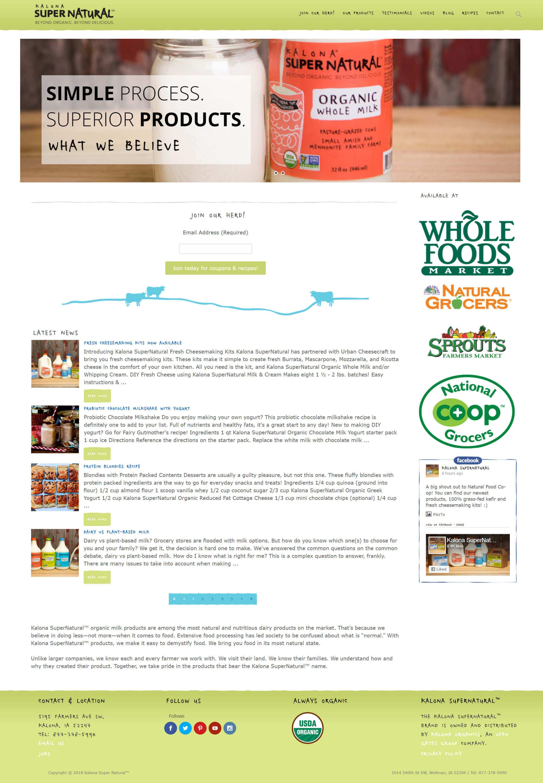 Kalona Full Website Redesign 2 Kalona Full Website Redesign