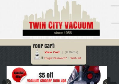 Twin City Vacuum X-Cart Design