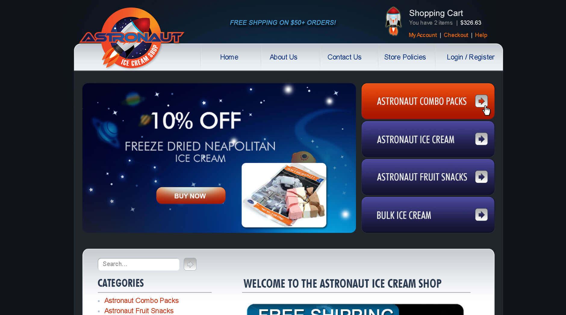 Astronaut Ice Cream Shop 1 Astronaut Ice Cream Shop