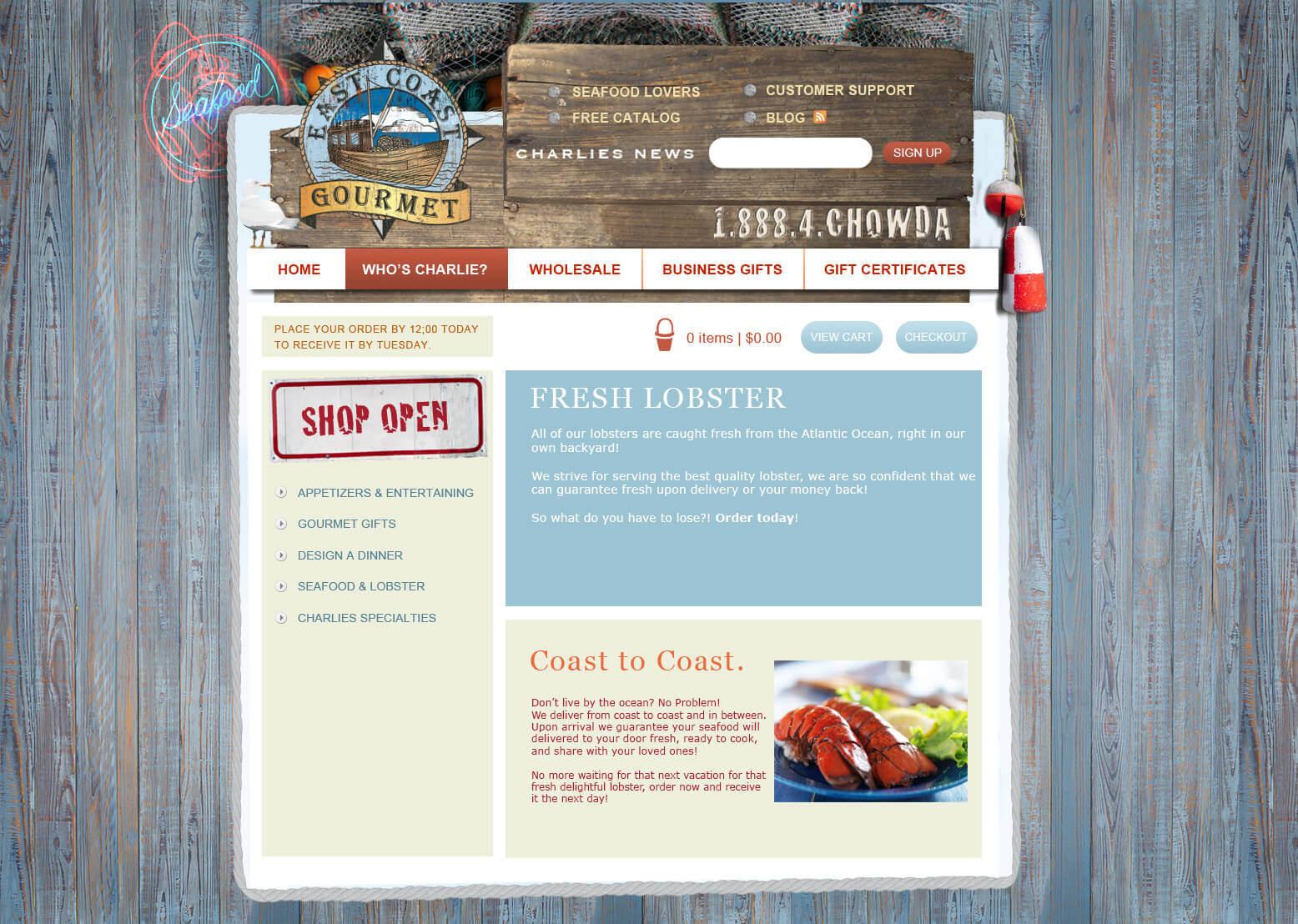 Gourmet Website Design 2 Gourmet Website Design
