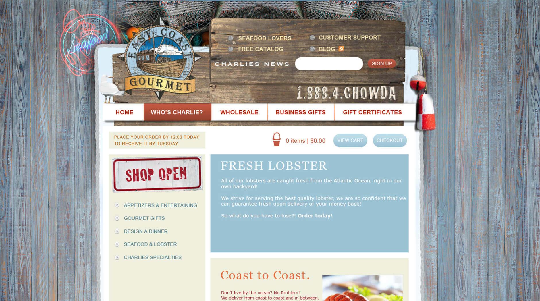 Gourmet Website Design 1 Gourmet Website Design