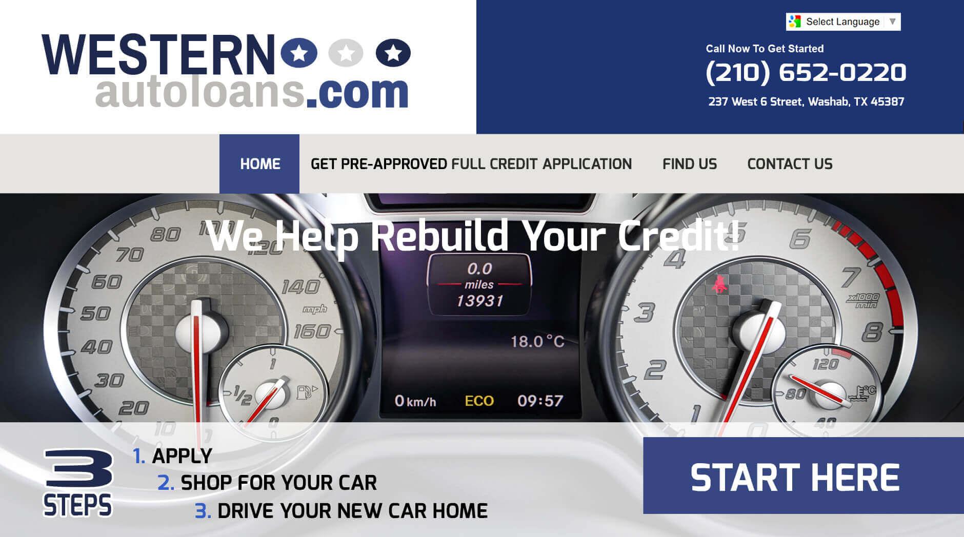 Western Auto Loans Re-Design 1 Western Auto Loans Re-Design